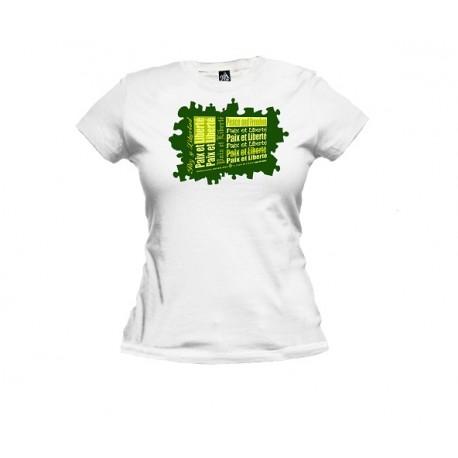 Tee-shirt femme classique PAZ Y LIBERTAD