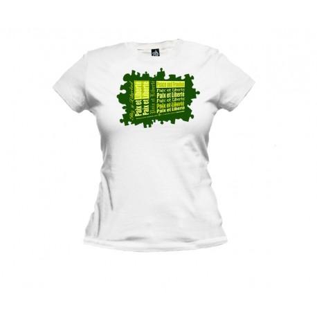 Tee-shirt femme classique PAZ Y LIBERTAD by klassicvib